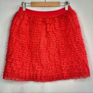 ON SALE 💚 Ruffle Layered Lace Skirt